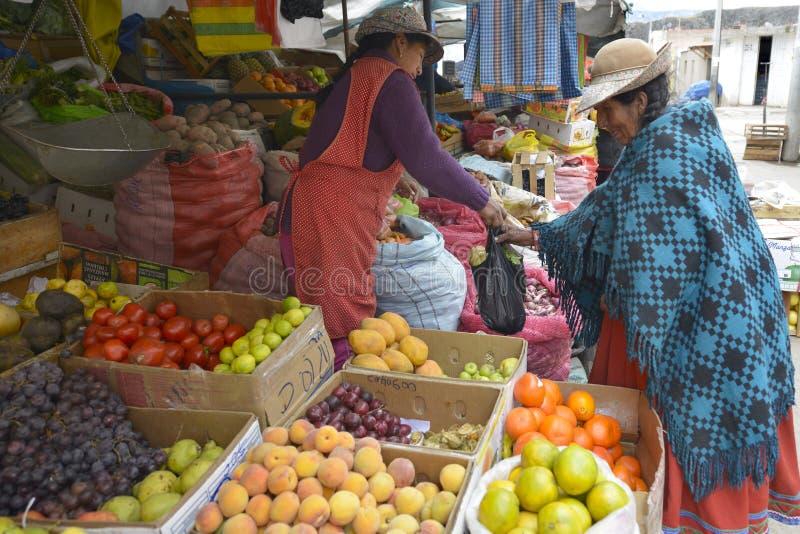 Markt, Chivay, Peru stock fotografie