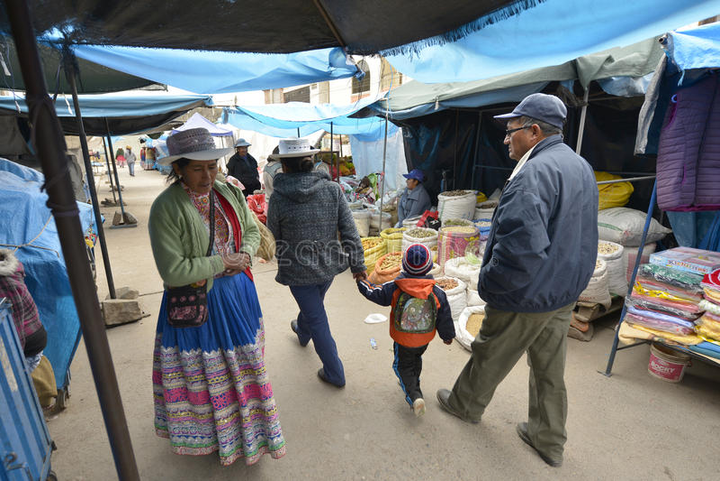 Markt, Chivay, Peru royalty-vrije stock afbeelding