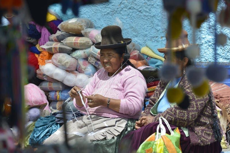 Markt, Chivay, Peru stock foto