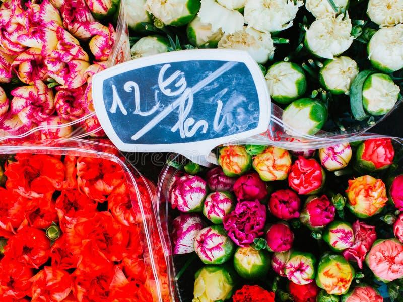 Markt Cours Saleya Sonntag lizenzfreie stockfotos