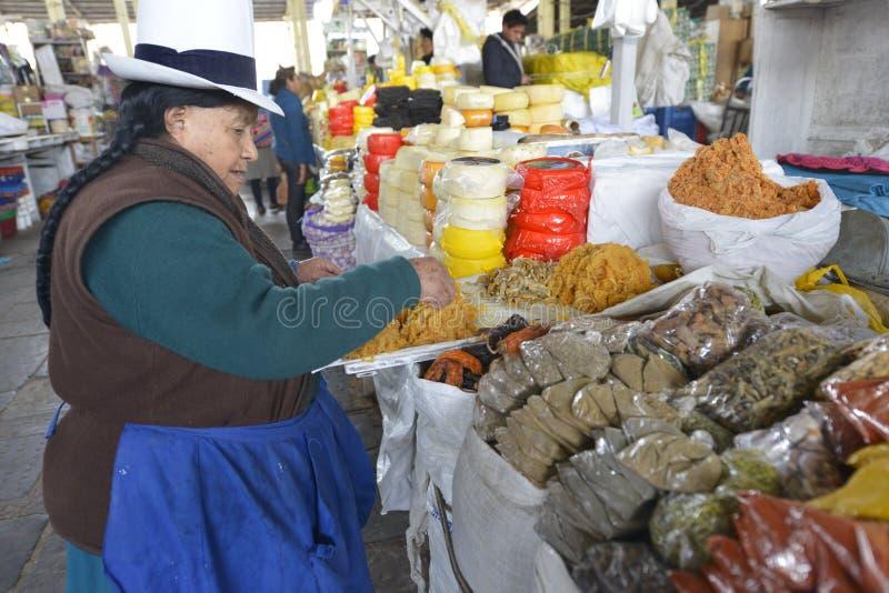 Markt, Cuzco, Peru stock afbeeldingen