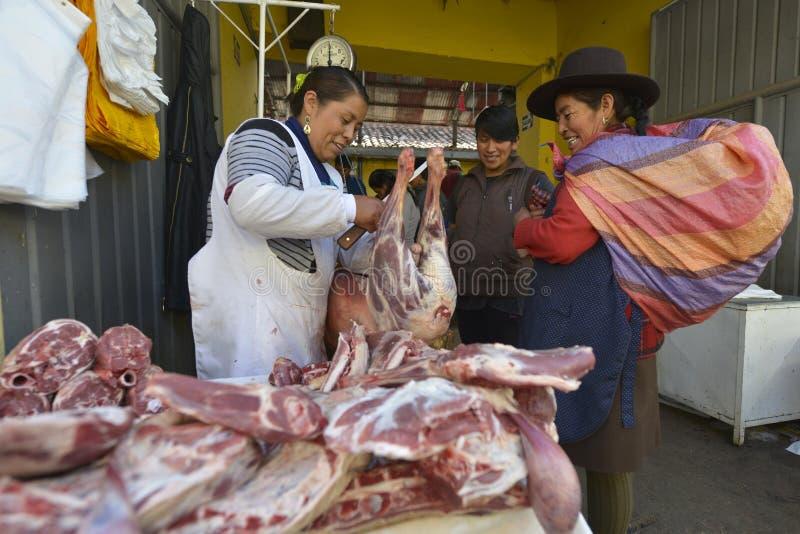 Markt, Cuzco, Peru royalty-vrije stock afbeelding