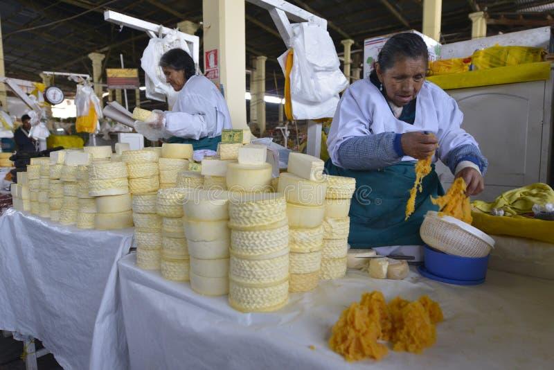 Markt, Cuzco, Peru stock fotografie