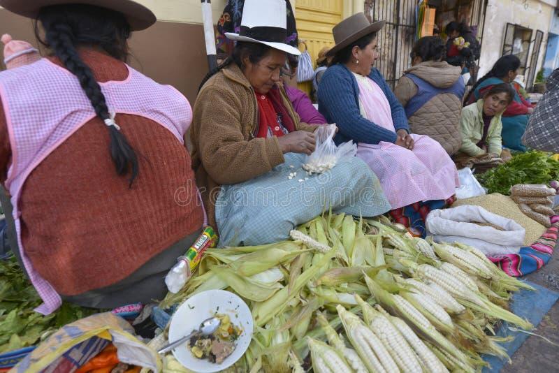 Markt, Cuzco, Peru royalty-vrije stock foto