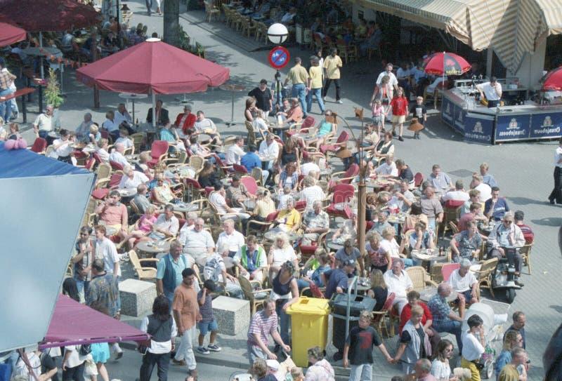 Markt in de stad van Tilburg stock afbeeldingen