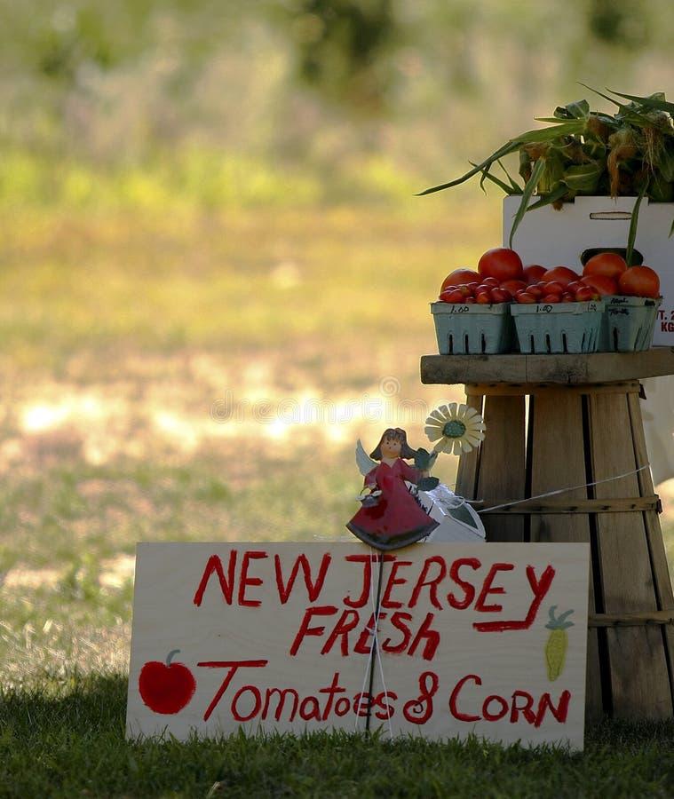 Markt des Jersey-Landwirts stockfotos