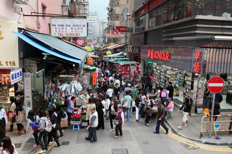 Markt in fahlem Chai, Hong Kong stockfoto
