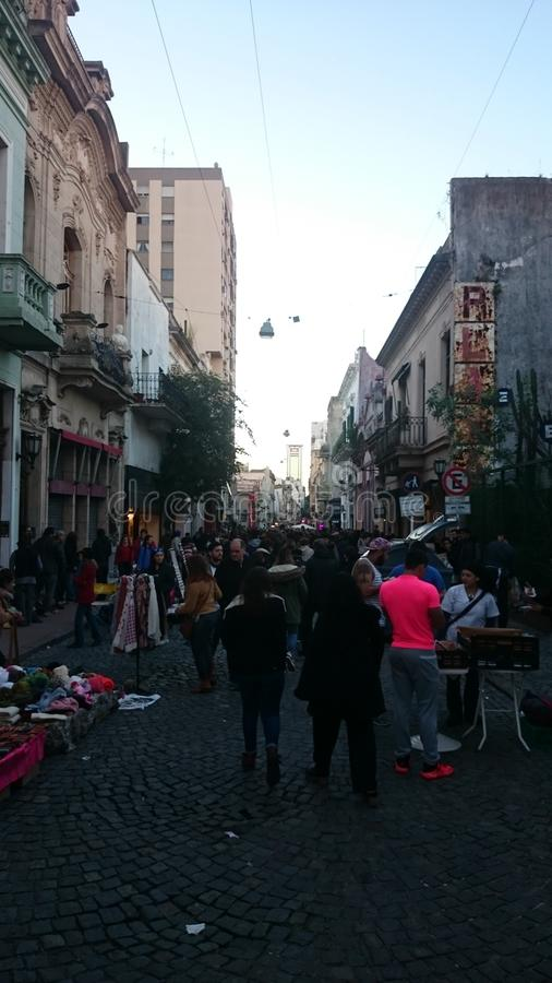 Markt feria San Telmo stock afbeeldingen