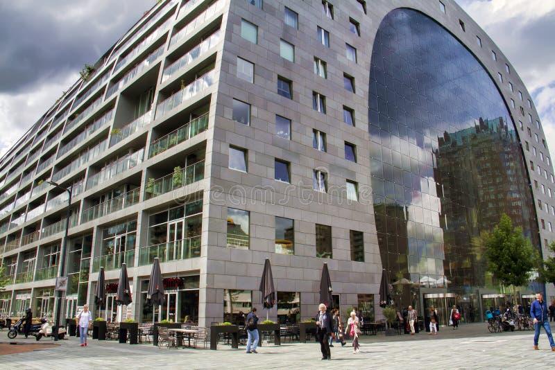 Markt Hall, Rotterdam, die Niederlande lizenzfreie stockbilder
