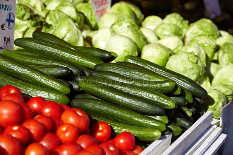 Markt in Helsinki stock foto's
