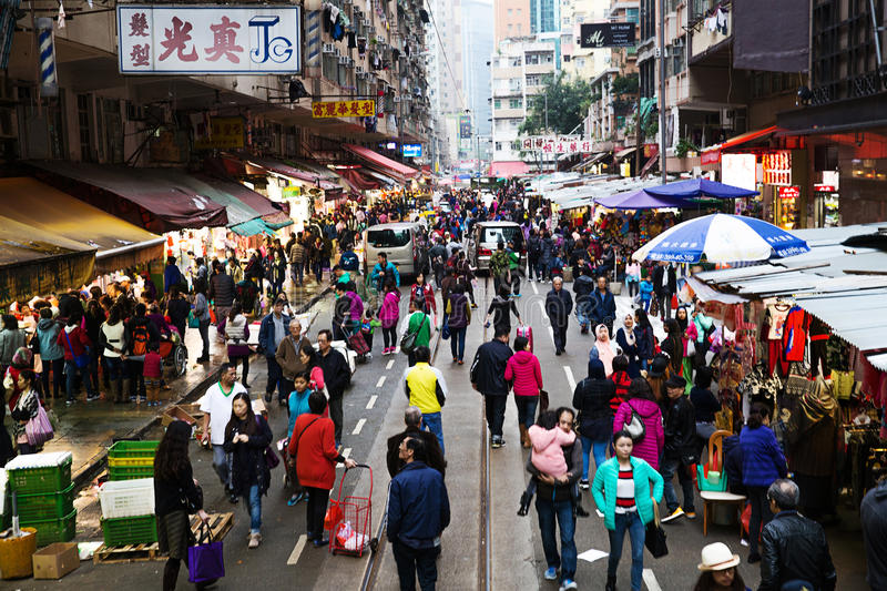 Markt in Hong Kong stockfotografie
