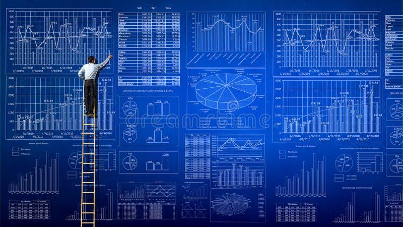 Markt infographs stockfotografie