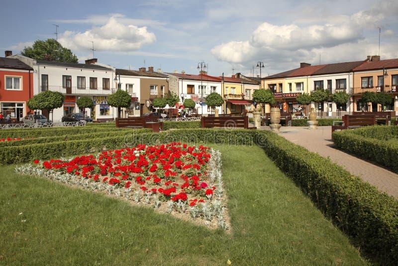 Markt in Janow Lubelski polen stockfoto