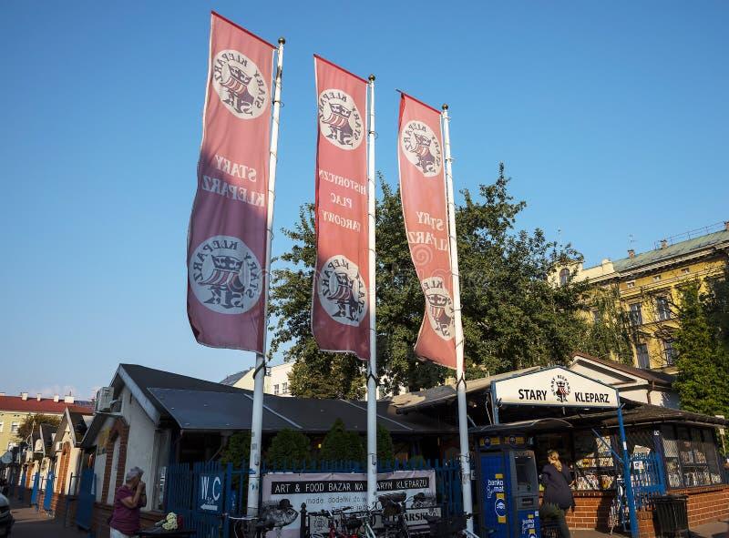 Markt in Krakau Polen stockbild