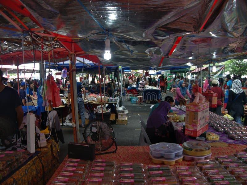 Markt in Kuching, Borneo, Malaysia ` Wettbewerbs-Datei ` lizenzfreie stockbilder