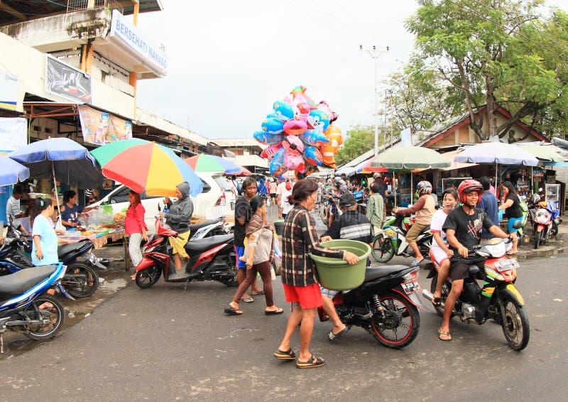 Markt in Manado stock afbeeldingen