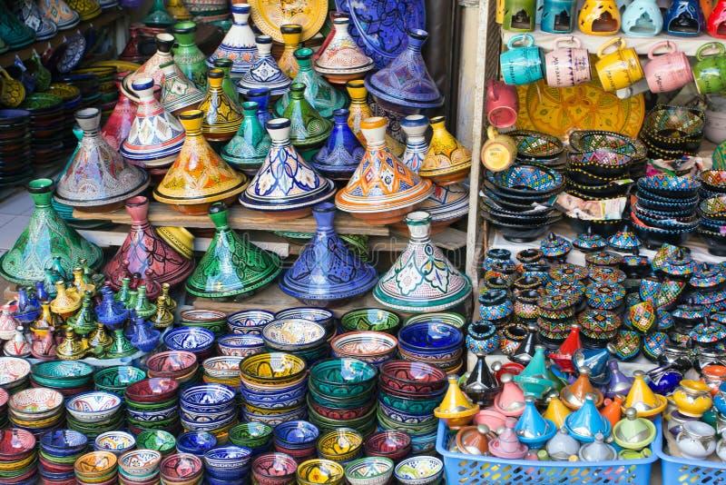 Markt in Marrakech stock afbeelding