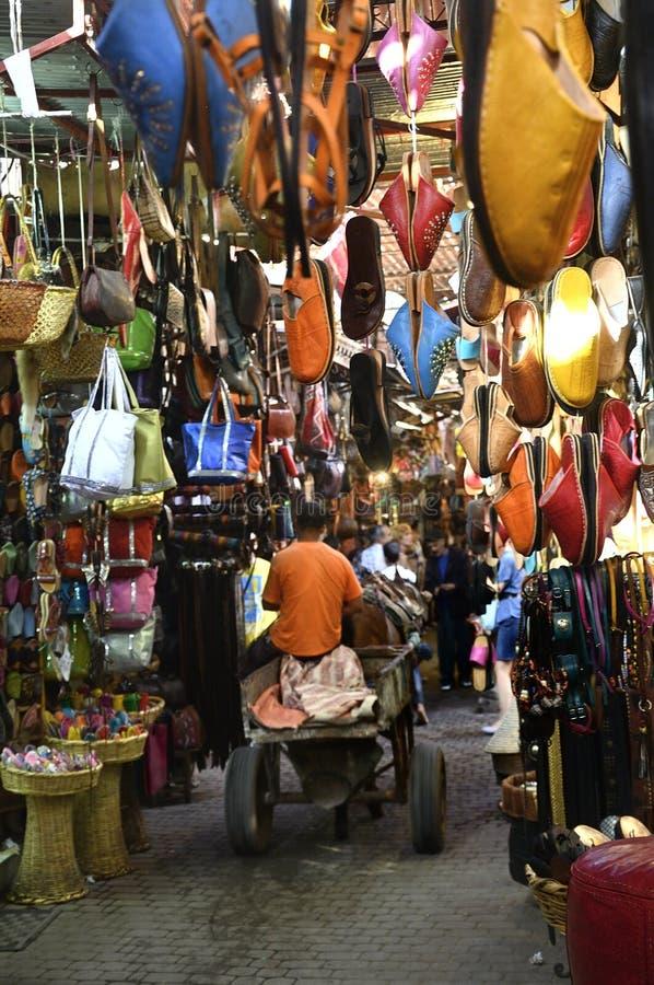 Markt in Marrakech in marroco royalty-vrije stock afbeelding