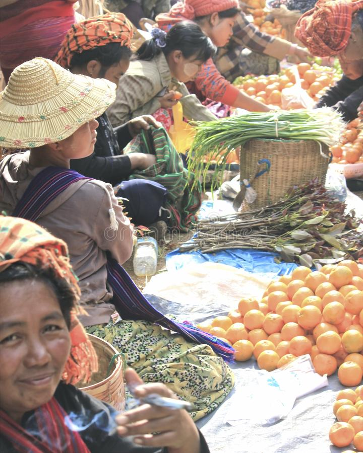 markt in Myanmar royalty-vrije stock foto