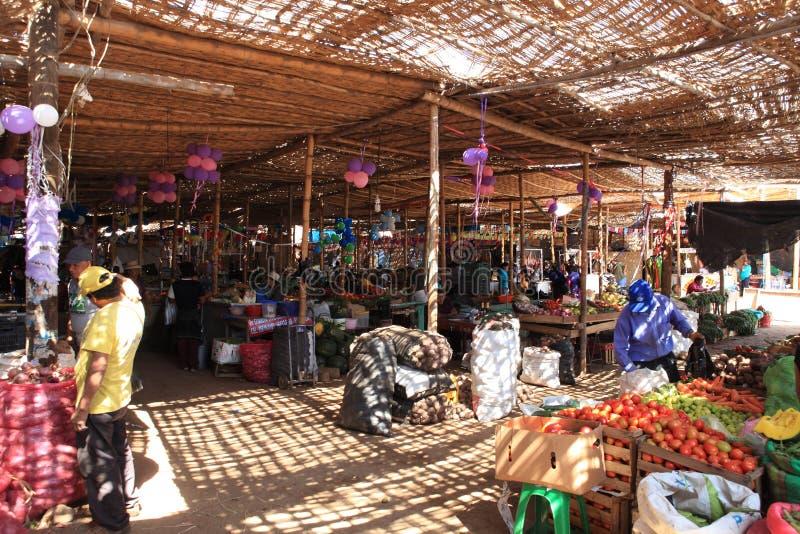 Markt in Nazca lizenzfreie stockbilder