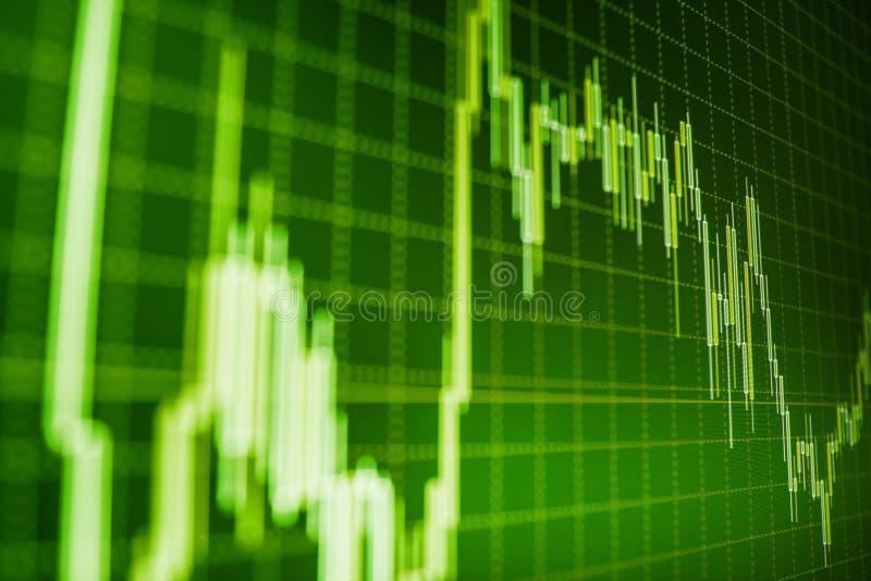 Markt oder Devisenhandelsdiagramm und -kerzenständer entwerfen passendes für Finanzinvestitionskonzept stockfoto