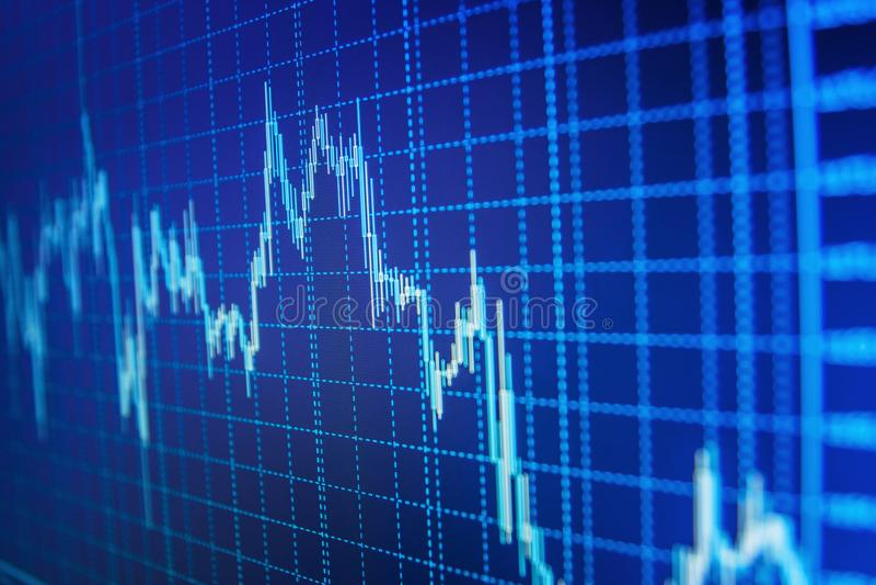 Markt oder Devisenhandelsdiagramm und -kerzenständer entwerfen passendes für Finanzinvestitionskonzept lizenzfreie stockfotografie