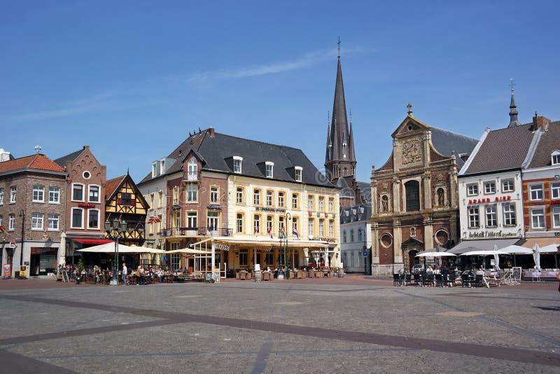 Markt-plein Sittard stockfotografie