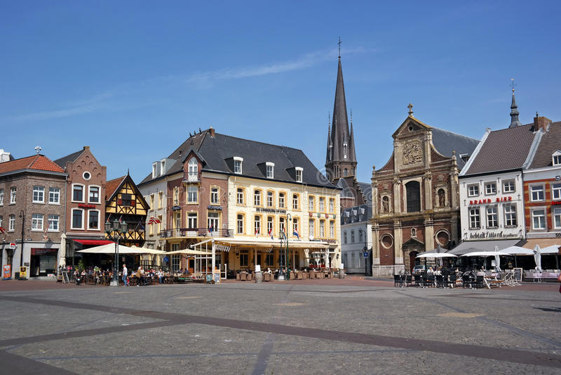 Markt plein Sittard stock photography