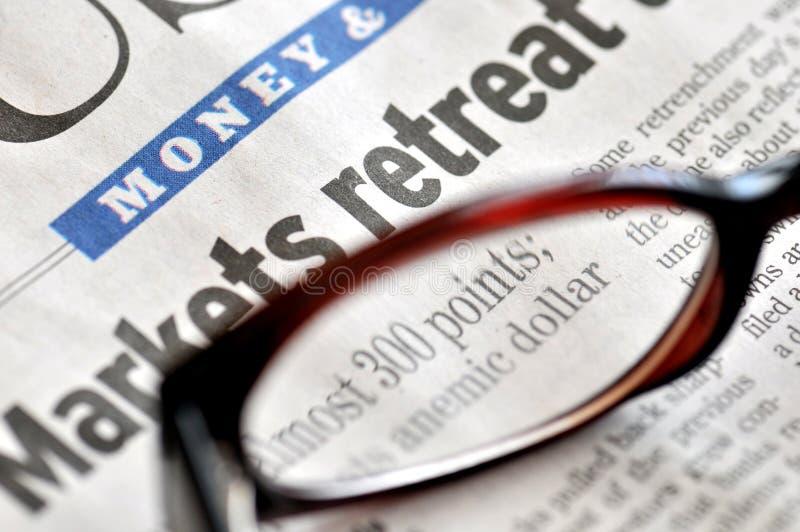 Markt-Rückzug lizenzfreies stockfoto