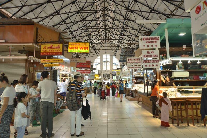 Markt Ranguns Bogyoke Aung San lizenzfreie stockfotos