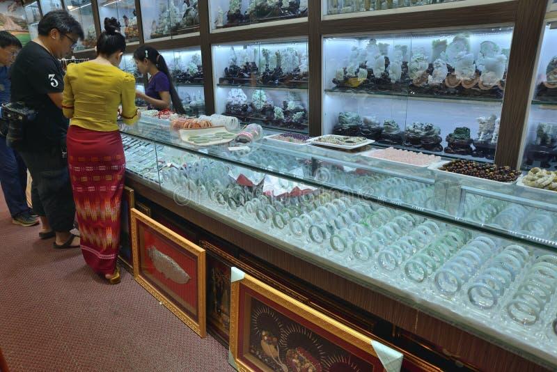 Markt Ranguns Bogyoke Aung San lizenzfreie stockbilder