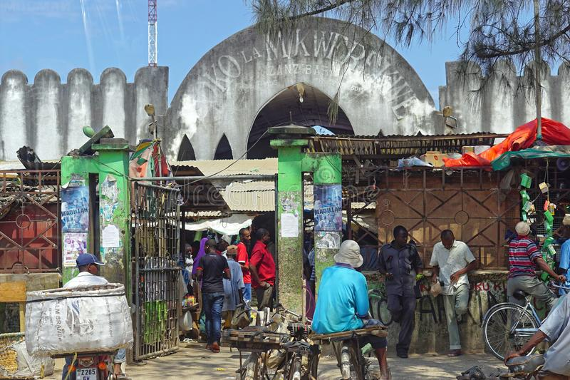 Markt in Sansibar stockbilder