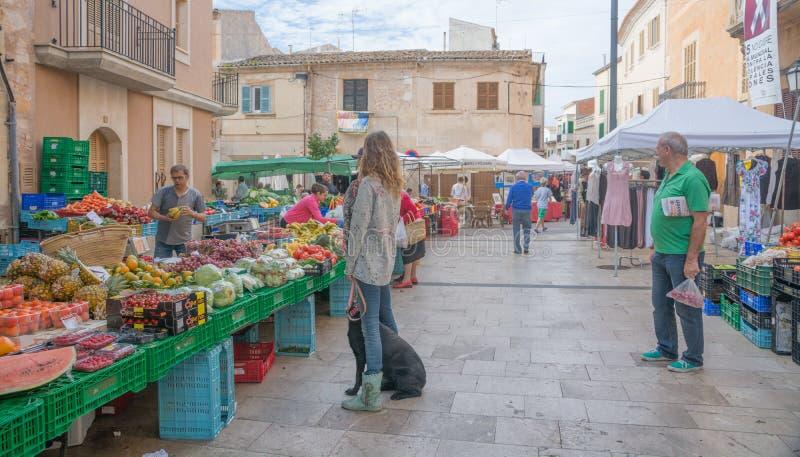 Markt in Santanyi royalty-vrije stock foto
