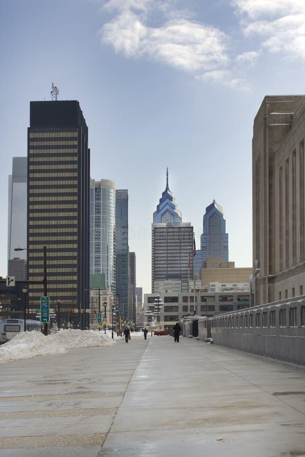 Markt-Straße in Philadelphia stockfotografie