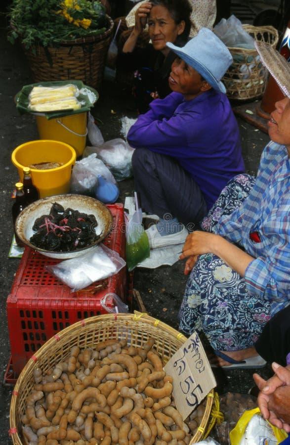 Markt in Thailand. stockbilder