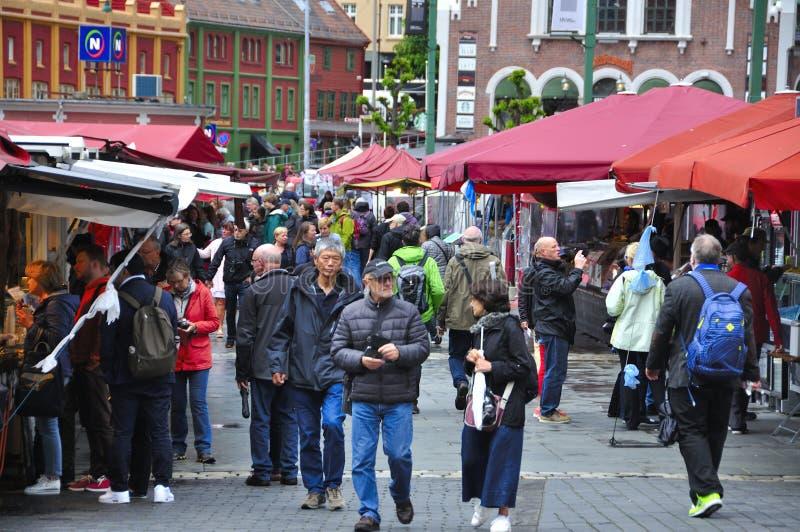 Markt van de vissen van Bergen Noor royalty-vrije stock foto's