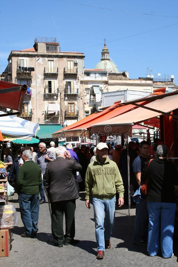 Markt van Palermo, Sicilië royalty-vrije stock fotografie