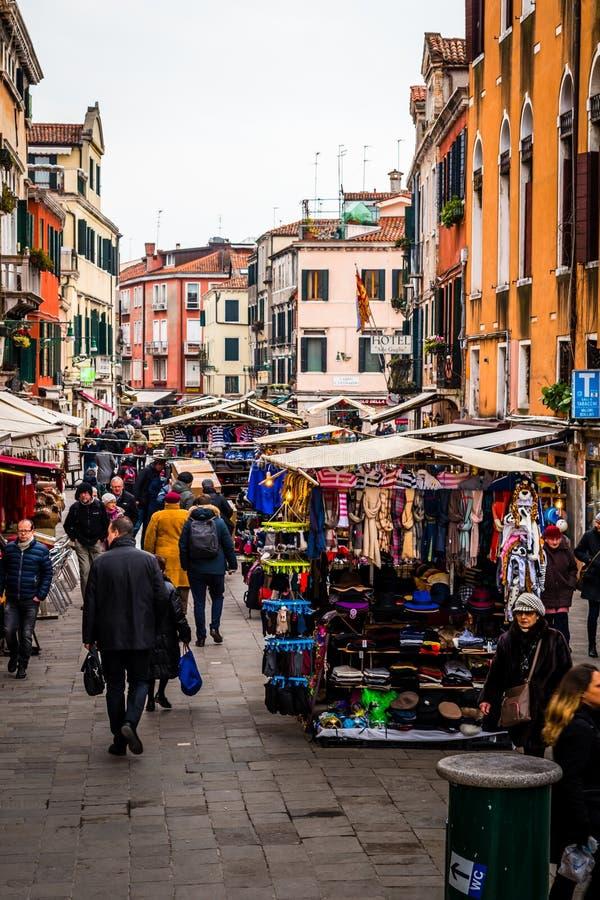 Markt van Venetië, Venetië, Italië stock foto
