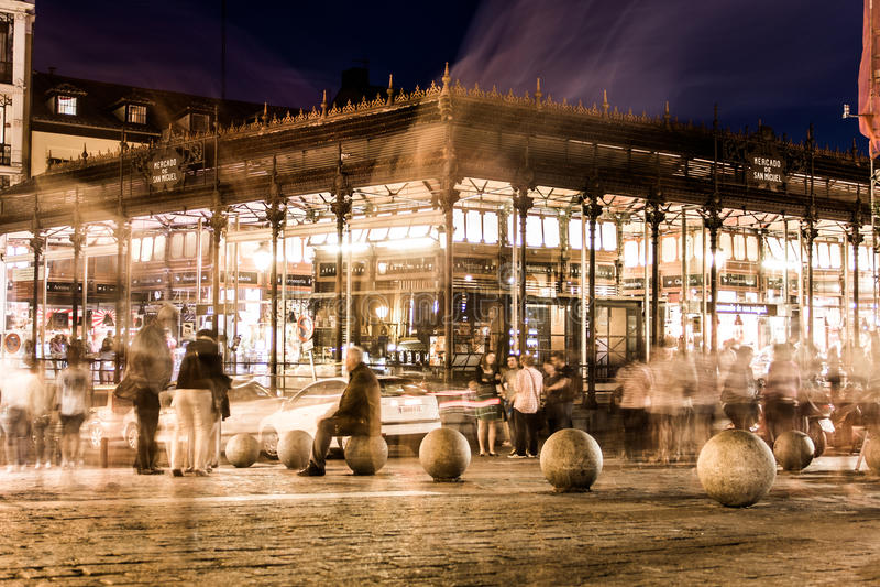 Markt von San Miguel, Spanien lizenzfreie stockfotografie
