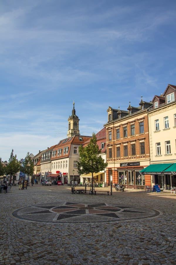Markt von Werdau, Deutschland, 2015 stockfoto