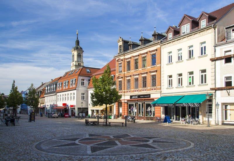 Markt von Werdau, Deutschland, 2015 lizenzfreie stockfotos