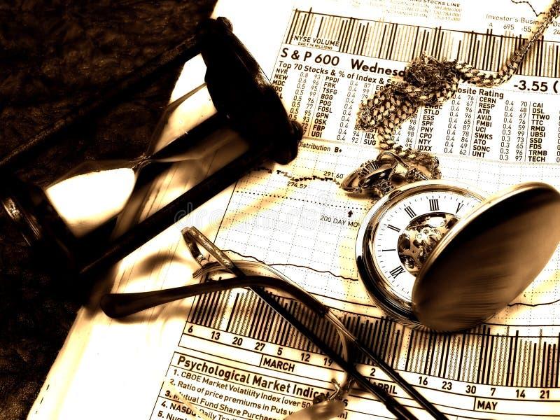 Markt-Zeitbegrenzung stockbild