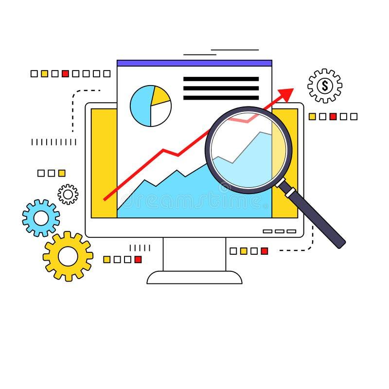Download MarktDatenanalysekonzept vektor abbildung. Illustration von überwachungsgerät - 96930380