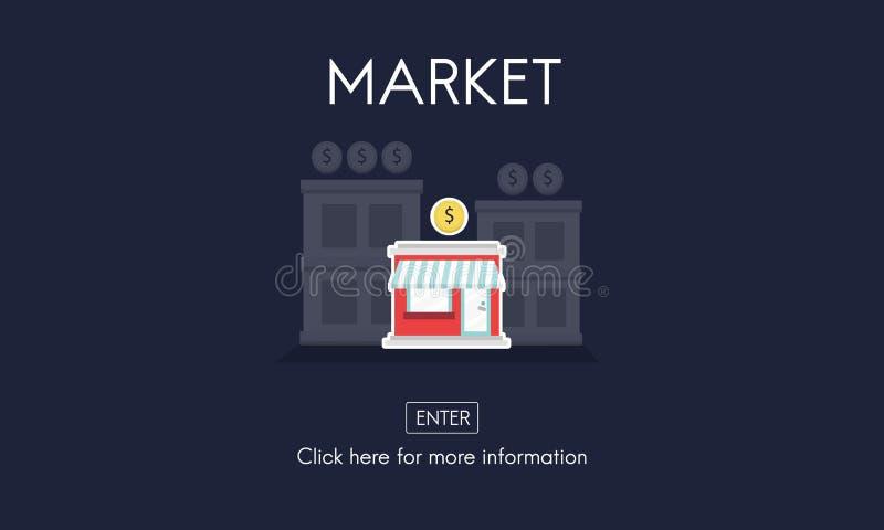 Markteinführungs-neues Geschäfts-Startkonzept stock abbildung