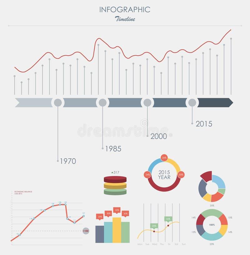 Stellen Sie Elemente Von Infographics In Den Kreisdiagrammen Ein Auch Im Corel Abgehobenen