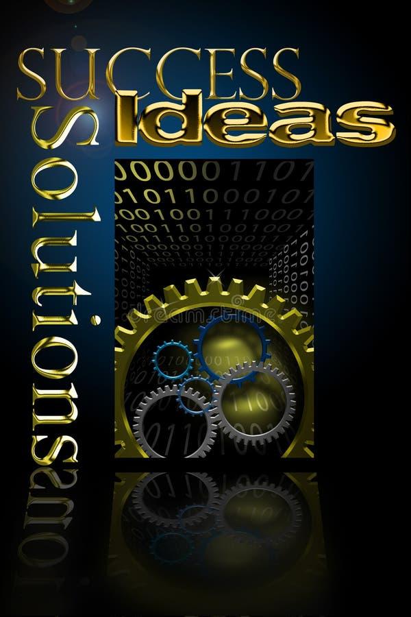Markterfolg-Lösungen lizenzfreie abbildung