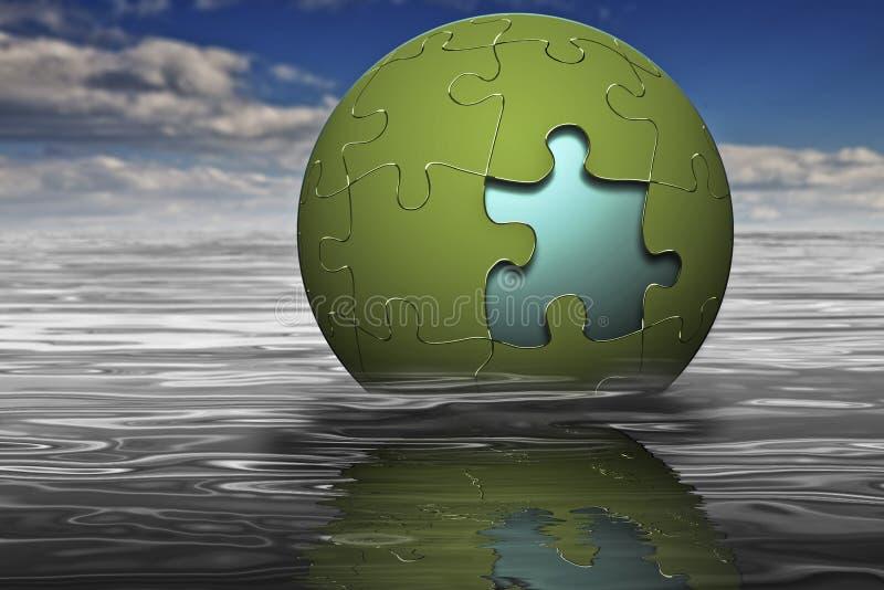 Markterfolg-Puzzlespiel stock abbildung