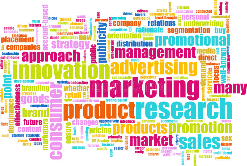 Marktforschung lizenzfreie abbildung