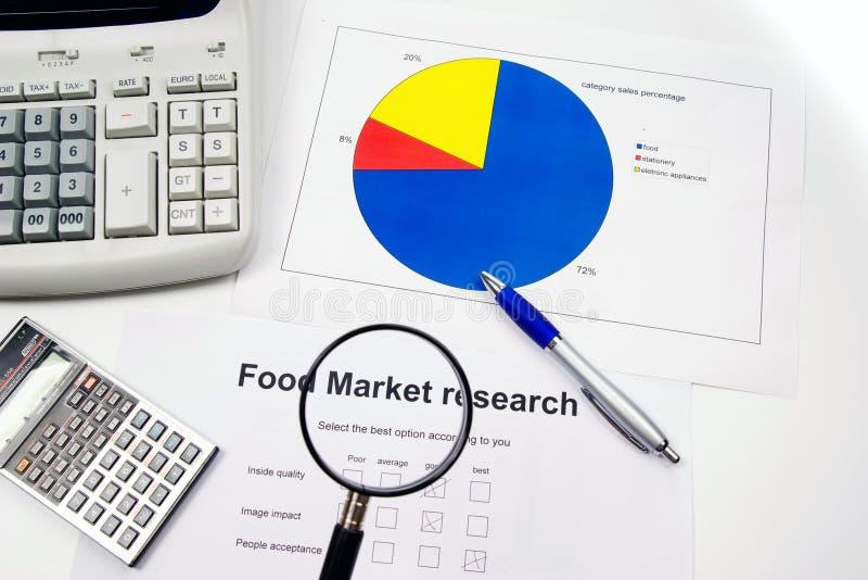 Marktforschung und Konten stockbild
