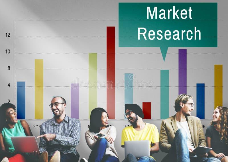 Marktforschungs-Analyse-Verbraucher-Marketingstrategie-Konzept stockfoto